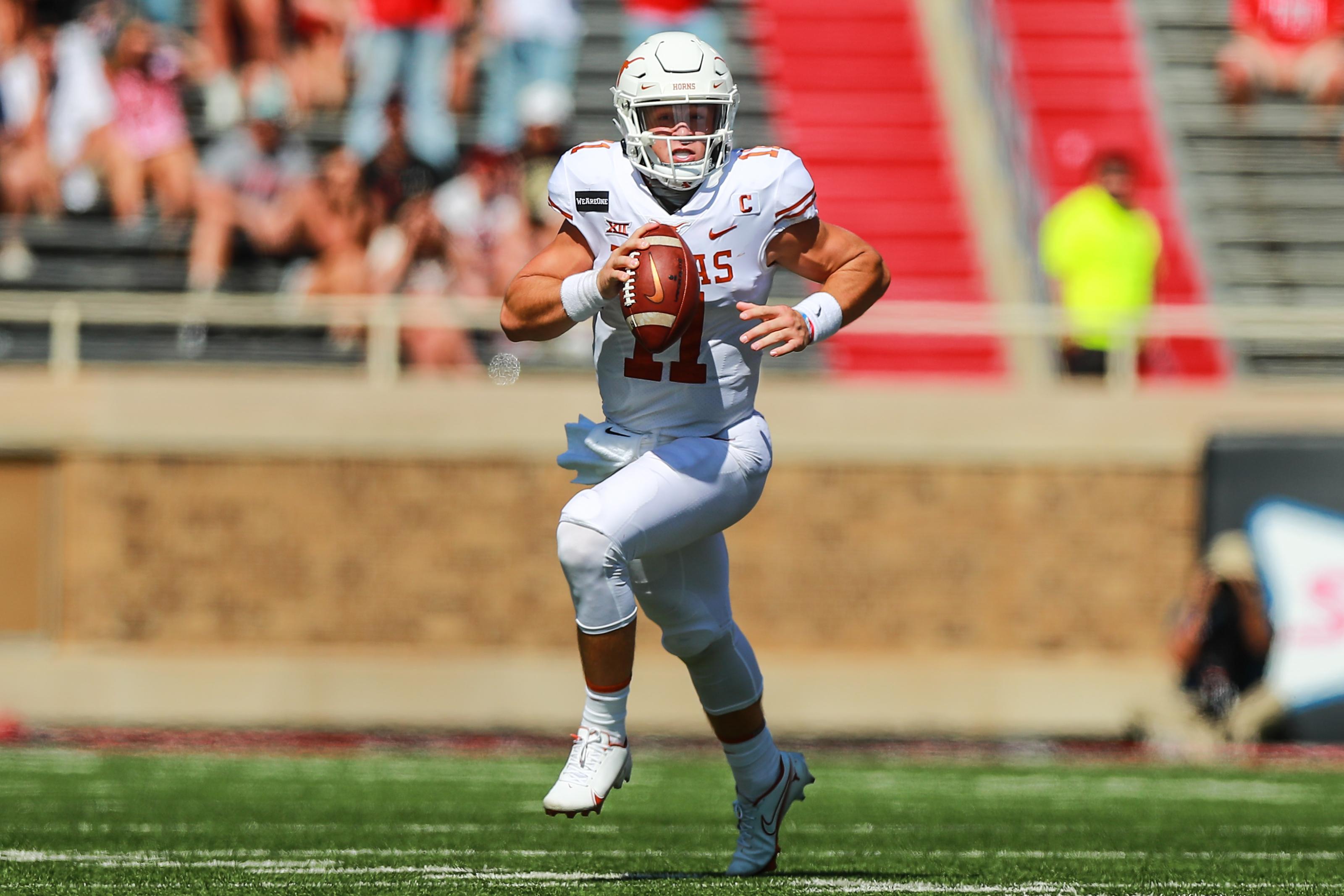 Texas Football Sam Ehlinger Breaks Records In Win Over Texas Tech